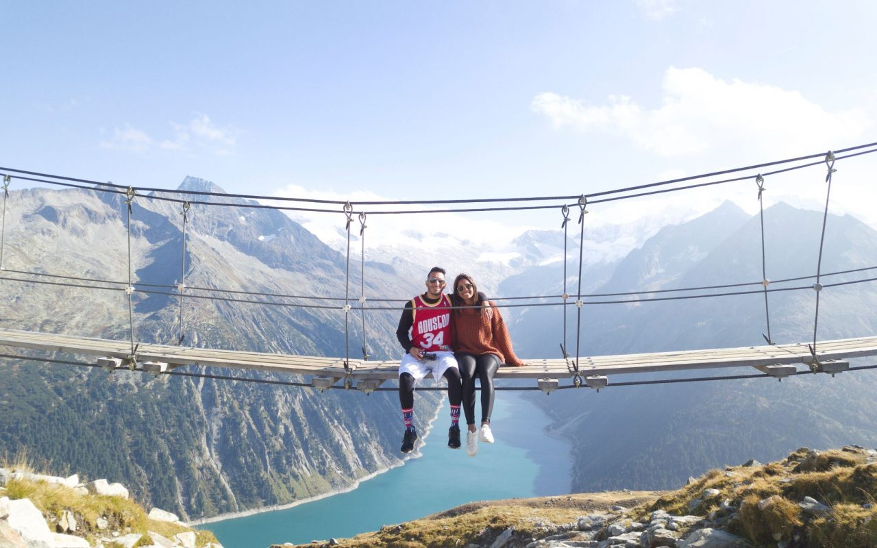 Austria Zillertal Suspension Bridge