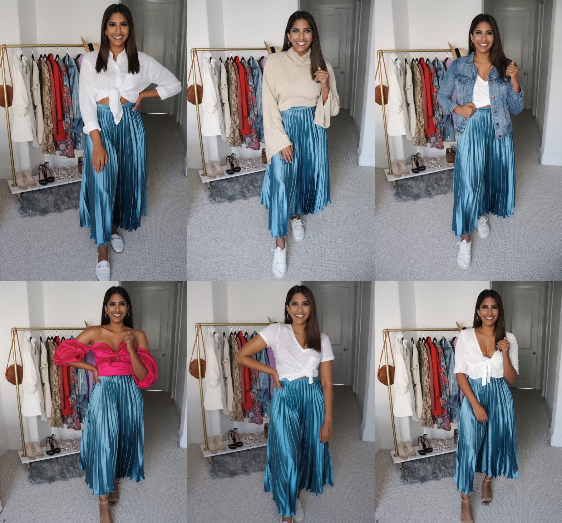 How to Style A Pleated Midi Skirt
