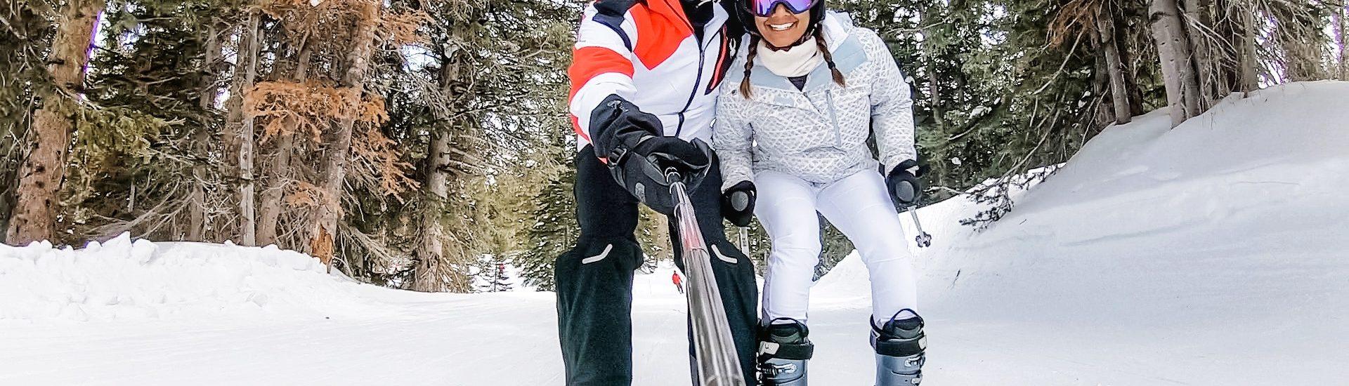Skiing in Alta, Utah